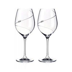 BNIB Swarovski Wine Glass Pair Gift Box